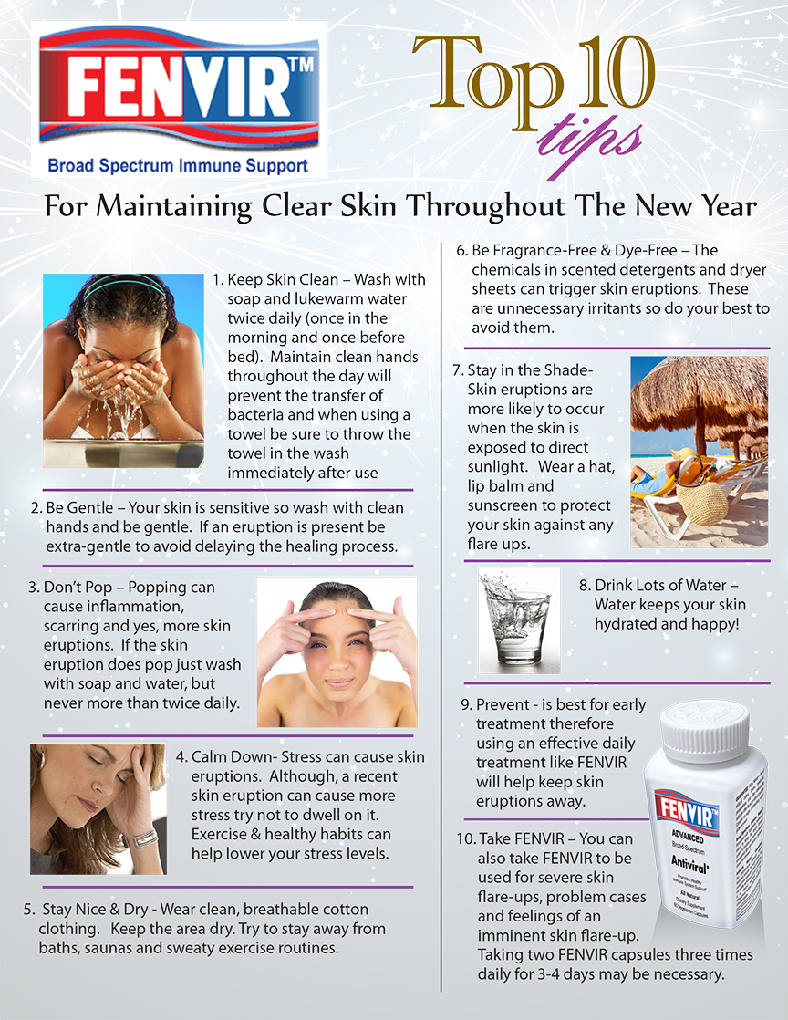 Top 10 Tips For Maintaining Clear Skin Throughout The New Year